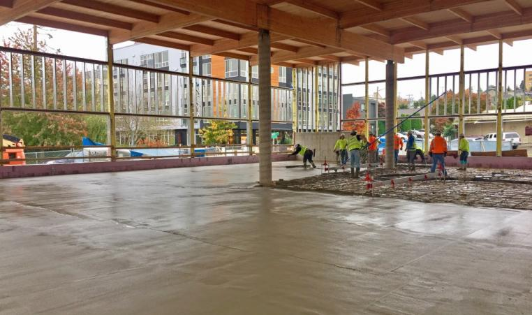 Floor Pour On Monday Ymca Of Greater Seattle
