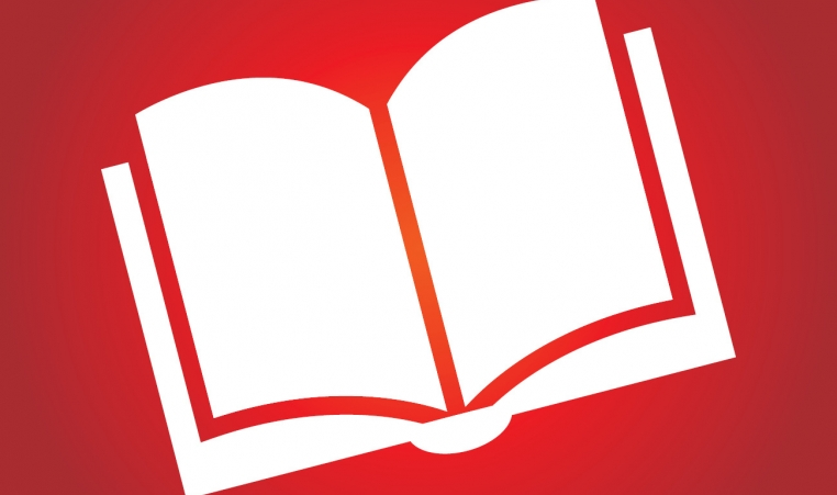 Book icon with red background