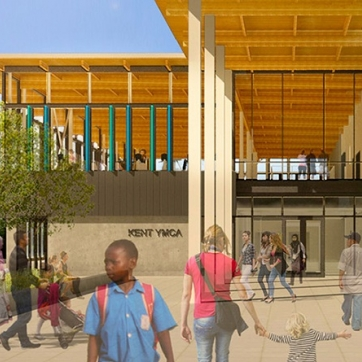 Rendering of new Kent YMCA
