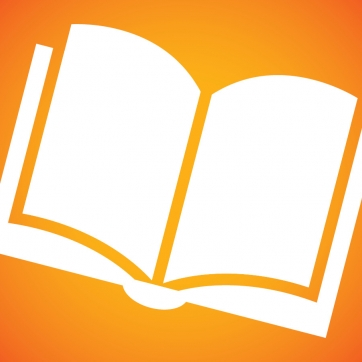 Book icon with orange background