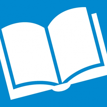 Book icon with blue background