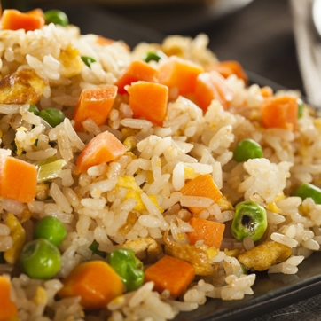 Fried Rice pictured, from a recipe for Asian Pacific American Heritage month.