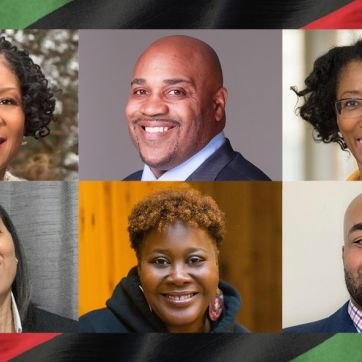 Headshots of six black leaders at the YMCA of Greater Seattle.