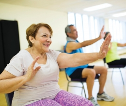 Adults exercising in a YMCA Chronic Disease Prevention and Management Program
